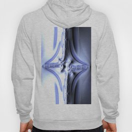 Blue Diamond Abstract Fractal Hoody