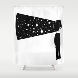 Face your universe Shower Curtain