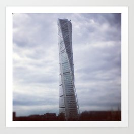 Turning torso Art Print