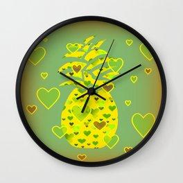 Deluxe Pineapple Wall Clock
