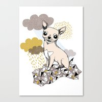 chihuahua Canvas Prints featuring Chihuahua by Camille Roy