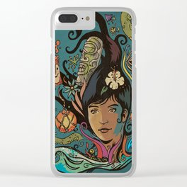 Wahine #4 Clear iPhone Case