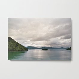 Fjord Beauty: On the Ferry to New Zealand's North Metal Print