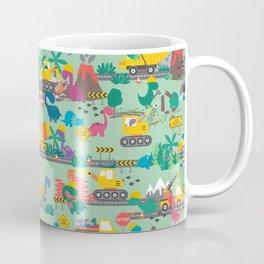 Dinosaur Construction Crew Pattern Coffee Mug