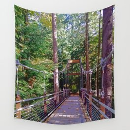 Crossing the Ravine Wall Tapestry