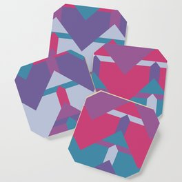 Cool Waves #society6 #violet #pattern Coaster