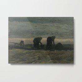 Two Women on the Peat Moor Metal Print