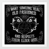 Respect Your Elder Gods Art Print