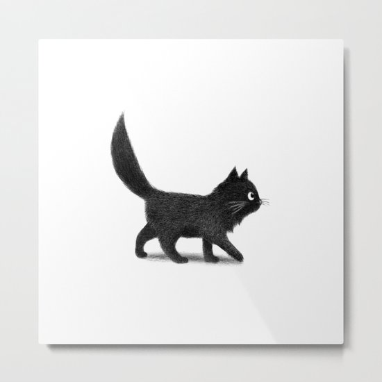 Creeping Cat Metal Print