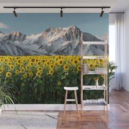 Sierra Nevada Mountains-California Sunflowers Wall Mural