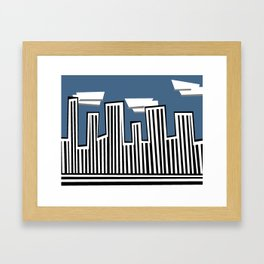 Untitled Minimalist Cityscape Two Framed Art Print
