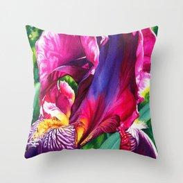 The Queen's Iris Throw Pillow