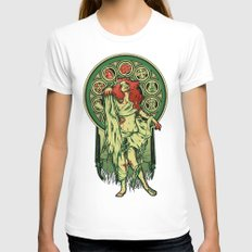 Zombie Nouveau Womens Fitted Tee White X-LARGE