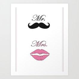 Mr & Mrs Art Print