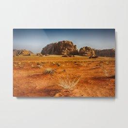 Wadi Rum desert in Jordan Metal Print