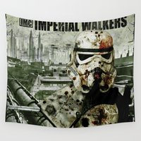 the walking dead Wall Tapestries featuring Imperial Walking Dead by jastervision