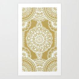 White on Cardboard Art Print