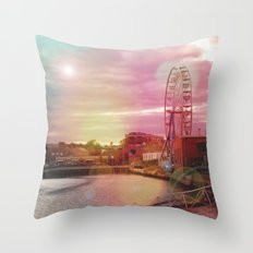 Seeing Another World - ReMix Throw Pillow