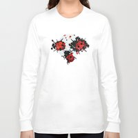bugs Long Sleeve T-shirts featuring Splattered bugs by Condor