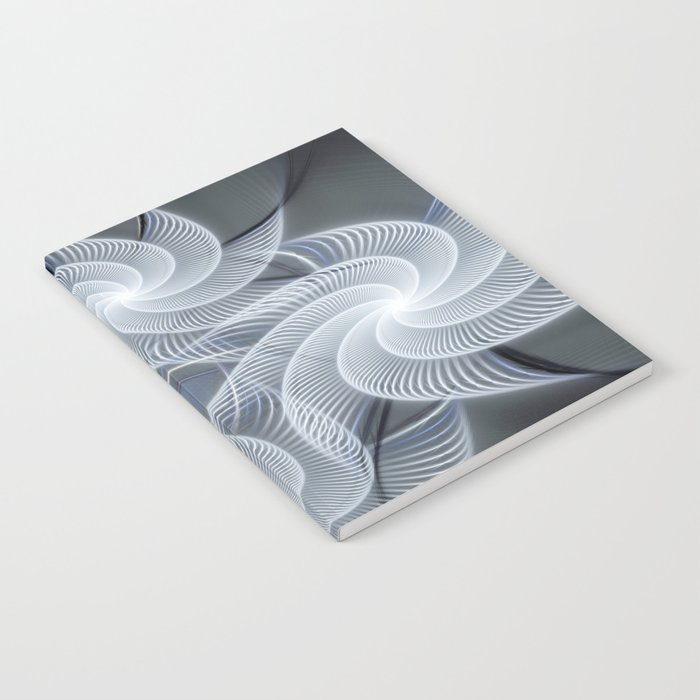 Fractal abstract with pinwheels Notebook