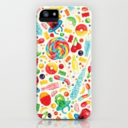 Candy Pattern - White iPhone Case