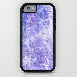 Purple ice iPhone Case