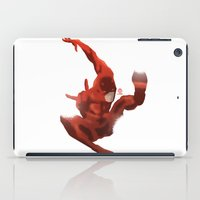 daredevil iPad Cases featuring DareDevil Minimalist Splash Poster by LoweakGraph