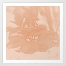 Bloom in Peach Tone Art Print