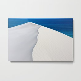 Sand dune at De Hoop Nature Reserve, Southern Cape, South Africa Metal Print