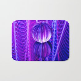 crystal ball reflect in red and blue. Bath Mat