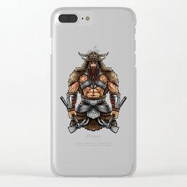 Norseman Berserker | Viking Warrior Valhalla Odin Clear iPhone Case