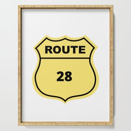 US Route 28 Serving Tray