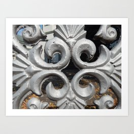 Details of the classic architecture of windows and doors Art Print
