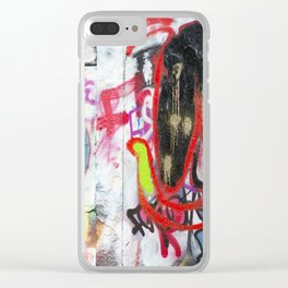 Colorful Graffiti Clear iPhone Case