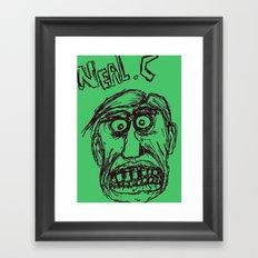 Neal cassady in green Framed Art Print