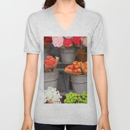 Flowers in buckets Unisex V-Neck