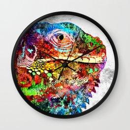 Iguana Grunge Wall Clock