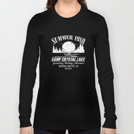 summer 1980 camp crytall lake swimming boating adventure wessex county jn est 1935 swimming t-shirts Long Sleeve T-shirt