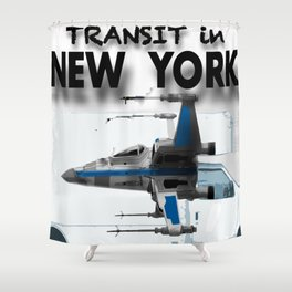Transit in New york City Shower Curtain
