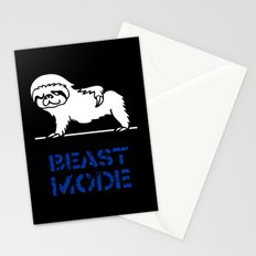 Beast Mode Sloth Stationery Cards