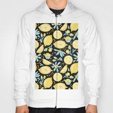 Lemon Pattern Black Hoody