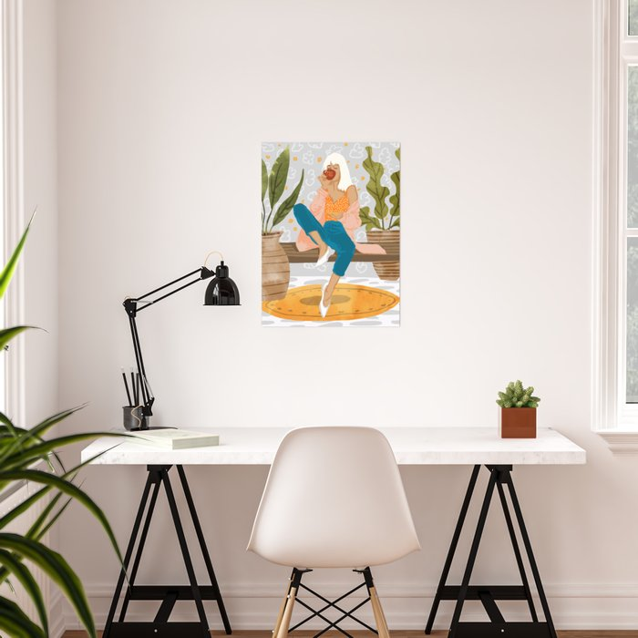 Boss Lady #illustration #painting Poster
