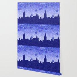 New York Bubbles Skyline Wallpaper