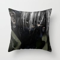 kakashi Throw Pillows featuring Hatake Kakashi by Raquel Rojas Gómez