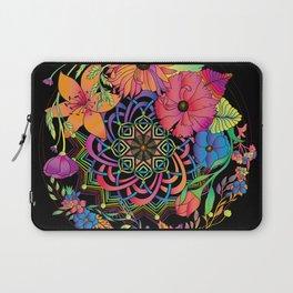 Neon Mandala and Flowers Laptop Sleeve