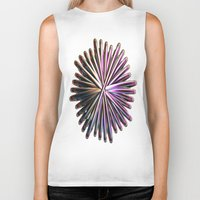 the wire Biker Tanks featuring Wire Circle by Brian Raggatt