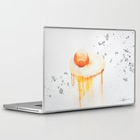 egg Laptop & iPad Skins featuring Raw Egg by Tara de la Garza