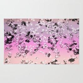 Unicorn Girls Glitter Stars #8 #shiny #decor #art #society6 Rug
