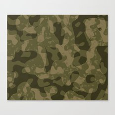 Camouflage Melt Canvas Print