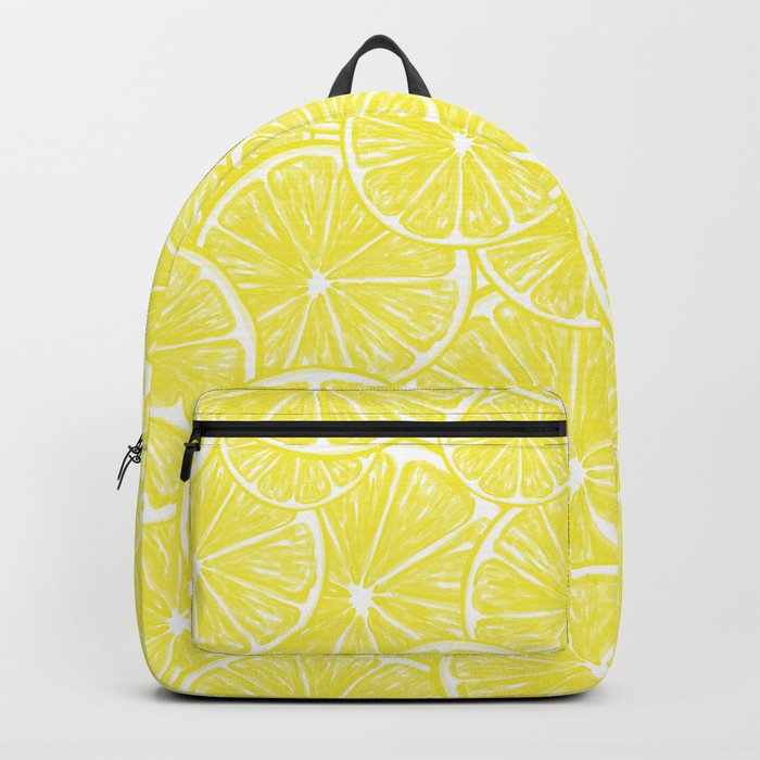 Lemon slices pattern design Backpack